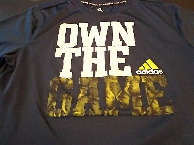Adidas Kids Youth Size XL (18)  Athletic Climalite Own The Game T-Shirt    L0