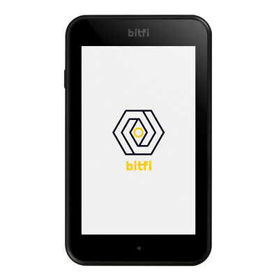 Bitfi Cryptocurrency Crypto Hardware Wallet - Black