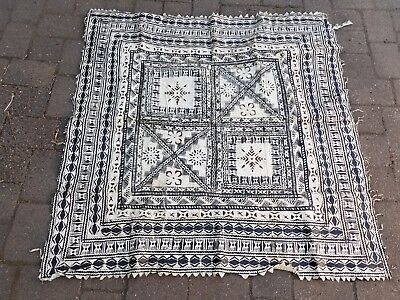 b) Vintage Polynesian South Pacific Tapa Bark Cloth - Hawaii Tiki Bar Decor