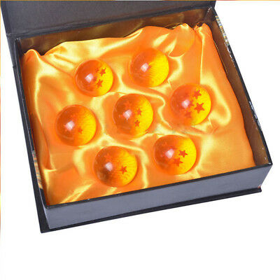 New 7pcs DragonBall Z Stars Acrylic Ball Collection Set w/ Gift Box Small 4.3 cm