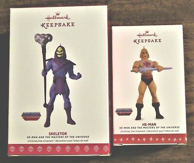 Hallmark Keepsake He-Man And Skeletor Ornaments 2016 & 2017 New In Box