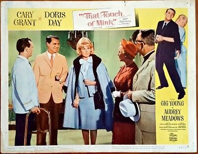 """Original 1962 THAT TOUCH OF MINK LOBBY CARD Cary Grant & Doris Day 11"""" x 14"""" NR"""
