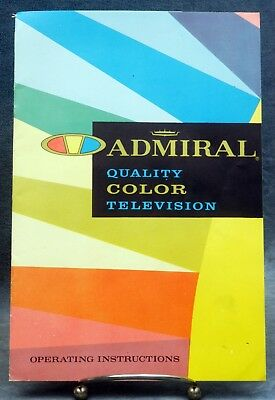 Admiral Television Operating Manual, Service, Other - 1963 - Free Usa Shipping