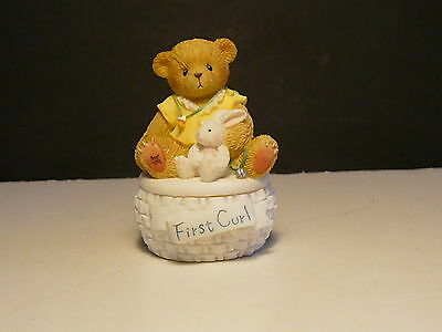 Cherished Teddies - First Curl - Covered Box