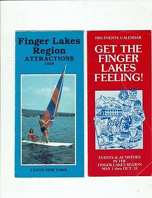 Finger Lakes area, N.Y., 1985 travel brochures, Attractions & Events  Calendar