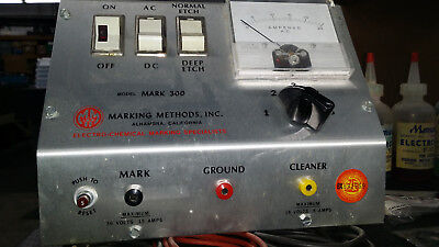 Marking Methods Inc. Mark 300 electro-chemical etching machine 120v 30amp 60hz