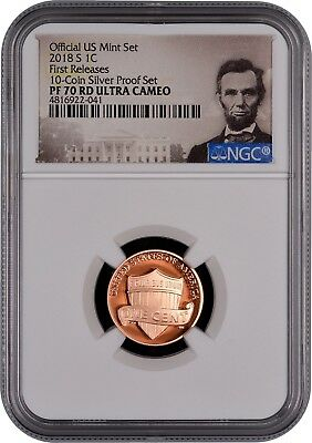 2018 S Lincoln 1c 10-Coin SILVER Set FIRST RELEASES NGC PF70 Ultra Cameo (POR)