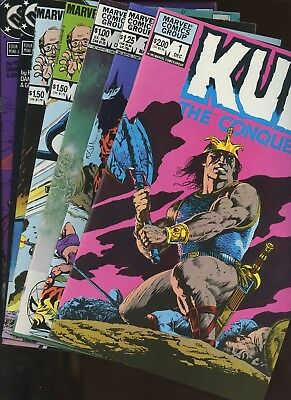 Kull the Conqueror (vol. 2) 1 (Vol. 3) 1,3 Marvel Fanfare 16,18 & More ~ 7 Books