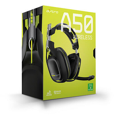Astro A50 Wireless Gaming Headset for Xbox One Dolby Pro Logic IIx Black/Lime UD