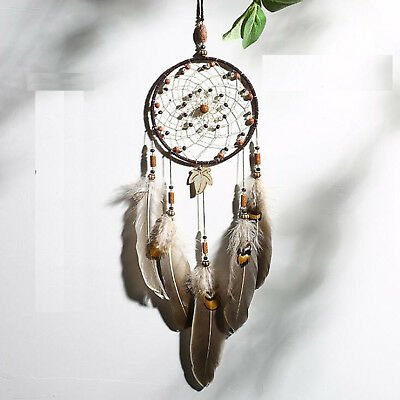 Indian Handmade Dream Catcher Feather Net Hanging Car Home Wall Decor Decoration