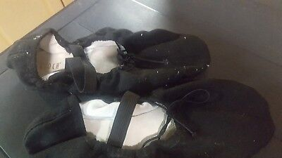 Bloch Ballet Slippers, Black 6A