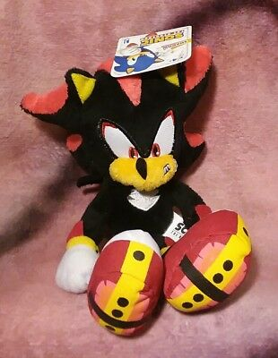 """Sonic the Hedgehog - """"Shadow"""" Plush Stuffed Animal Toy - Jazwares NEW WITH TAGS"""