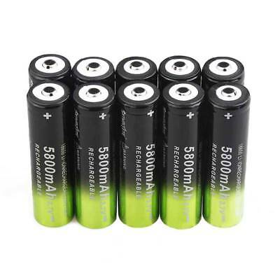 4Pcs 5800mAh 3.7V 18650 Li-ion Rechargeable Batteries Replacement @Love