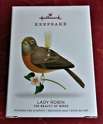 Hallmark Keepsake Lady Robin Beauty Of Birds Limited Edition Ornament 2018