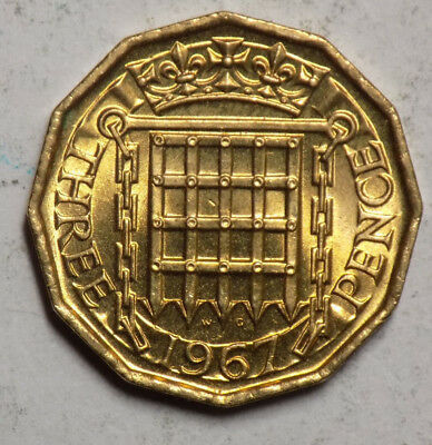 Great Britain 1967 3 Pence Coin