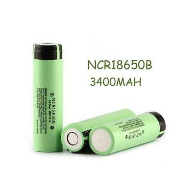 2Pcs 3.7V NCR 18650B 3400Mah Rechargeable Batteries For Panasonic  Flat Top