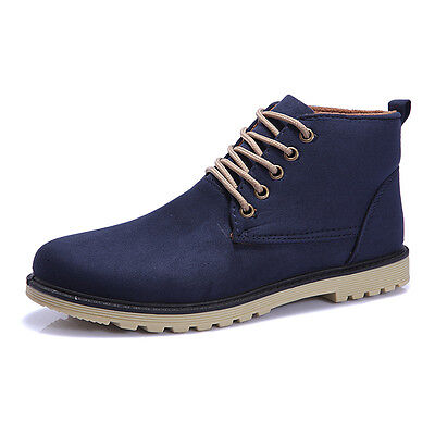 dbe2831c233 2018 British Men s Casual Suede Lace Ankle Boots High Top Loafers Sneakers  Shoes