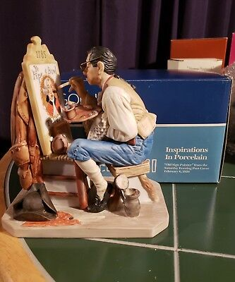 "Norman rockwell figurine Gorham ""Old Sign Painter"" RW50"