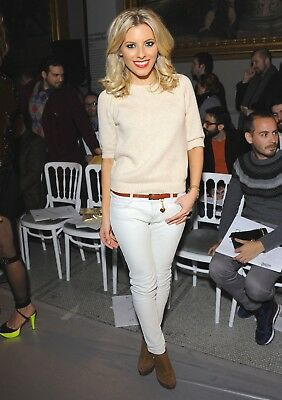 MOLLIE KING  glossy photo 4 to choose from white jeans leather trousers