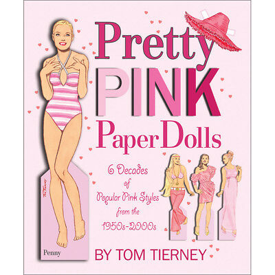 NEW Pretty Pink Paper Dolls - 8 Clothing Plates - 4 Models - Styles 1950 - 2000
