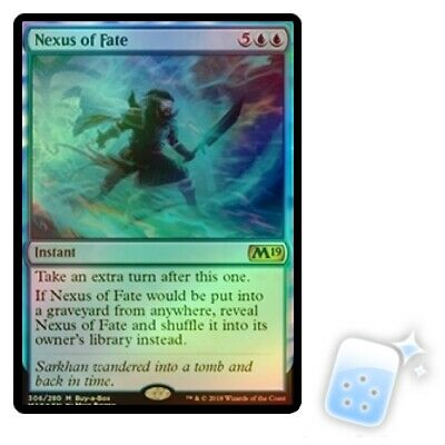 FOIL NEXUS OF FATE (CORE SET 2019 BUY-A-BOX) Promo Magic MTG MINT CARD