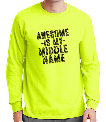 "NWT~JUMPING BEANS /""AWESOME IS MY MIDDLE NAME/"" INF BOY LONG SLEEVE TEE SZ 12M,18M"