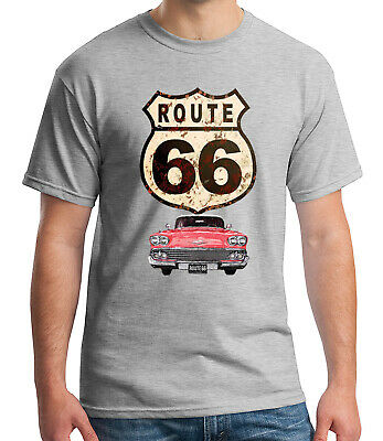 BNWT HIGHWAY GAS STATION MOTORCYCLE ROUTE 66 CLASSIC  ADULT T SHIRT S-XXL