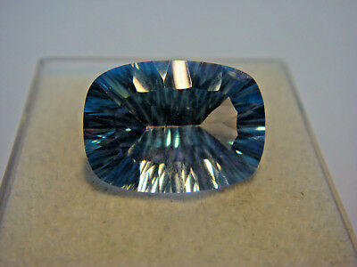 Mystic Blue Topaz Rectangular Cut Gemstone 14 x 10mm 7 carat unique Gem