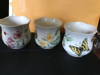 Lenox Butterfly Meadow Set Of 3 Votives New No Original Box