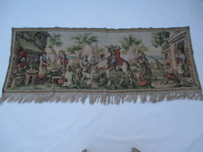 Old French / Belgium Tapestry Wall Hanging - 176 x 67 cm ( 4545 )