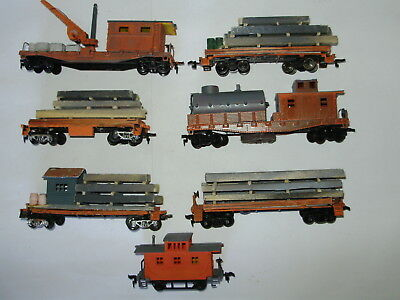 Lifelike wagons with hand made loads & accessories. Painted/weathered. HO Scale