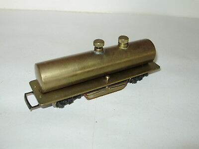 Brass track cleaning tank car with cleaning buffer.  With flow regulator. HO