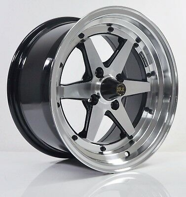 4pcs XR4 LONG CHAMP 15 inch Mags Wheels Rim 4X100 Alloy wheel Car Rims H608 B-1a