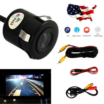 Wired 12V Back up Camera 170° Color Night Vision For Car Truck ED Weatherproof