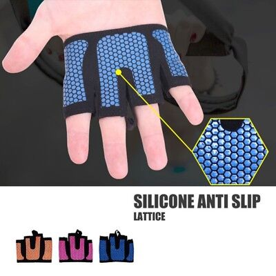 1 pair Weight Lifting Hand Bar Grips Straps Wrist Support Gym Training Gloves AU