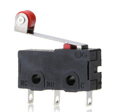 5Pcs/Set Micro Roller Lever Arm Close Limit Switch KW12-3 PCB Microswitch UX
