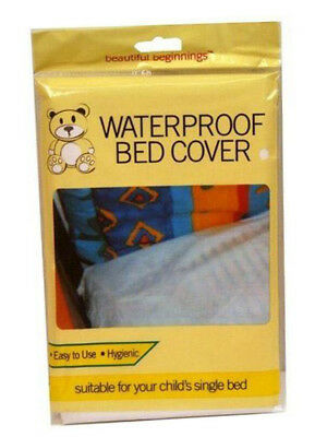 New Beautiful Beginnings Waterproof Child's Bed Mattress Cover Cot Single Bed