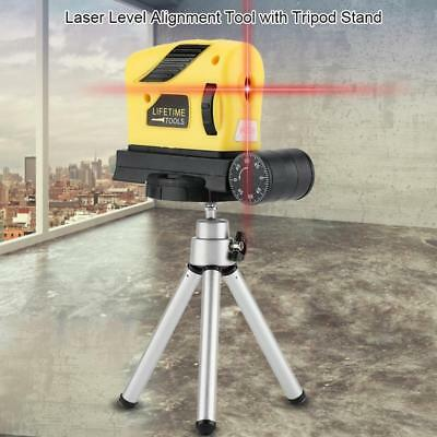 4in1 360° Micro Tuning Red Cross Infrared Laser Level Rotary Measure Tool ABS