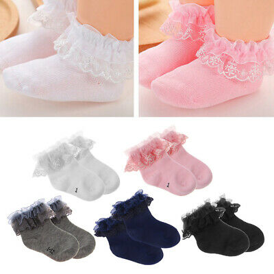 Baby Newborn Cotton Socks Lace Princess Combed Socks for Girls Infant Babe Socks