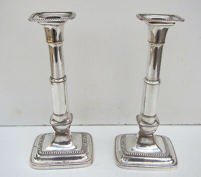 Old 'A.Goodman & Co' Sheffield Silver Plated Pair of Candlesticks