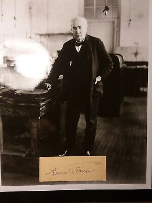 thomas edison autograph nice signature of the great man and inventor