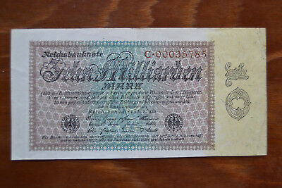 Reichsbanknote Zehn Milliarden Mark 15. Septeber 1923 Ro113 a