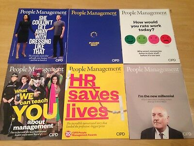 CIPD People Management HR Professional Monthly Journal Magazine X6 July-Dec 2016