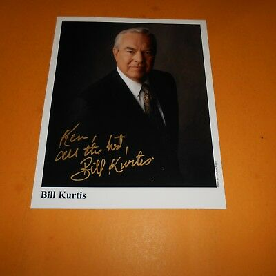 Bill Kurtis is an American television journalist, producer Hand Signed Photo