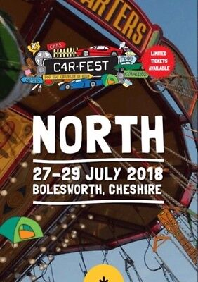 Carfest North Family Weekend Camping Tickets