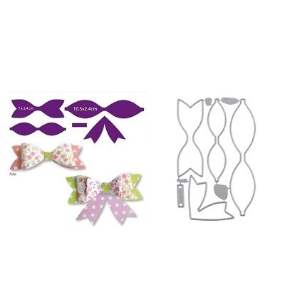 Metal Bow DIY Cutting Dies Stencil Scrapbooking Embossing Paper Cards Album