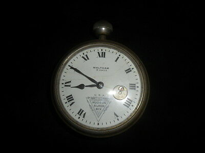 Waltham 8-day Hudson Super Six Car Clock  Not running, Not broken  FREE SHIP USA