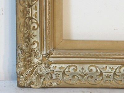 Vintage  Museum Quality Gilt Whitewash Frame For Painting  17 X13 Inch