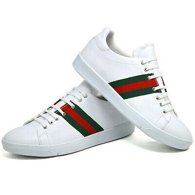Mens Casual Boys Faux Leather Designer Fashion Work Trainer Party Shoes