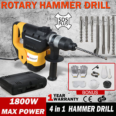 4 IN 1 Demolition Rotary Jack Hammer Concrete Jackhammer Electric Drill Chisel